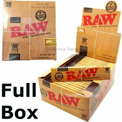 RAW Rolling Papers King Size Slim Classic Natural Unrefined Skins 110mm CHRISTMA