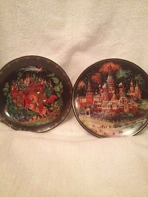 Russian Legends Fairytale Collector Plates Bradford Exchange 1988/1991Lot of 2