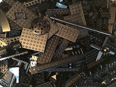 0.5 lb. Assorted Used LEGO - Lot Of Various Black Parts & Pieces