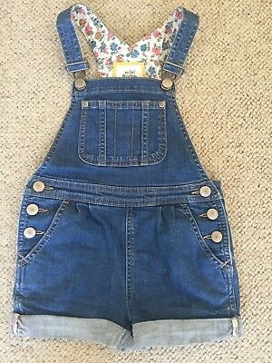 Mini Boden Dungaree Shorts Aged 4-5y
