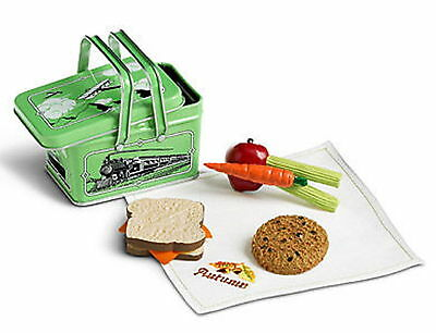 NEW AMERICAN GIRL DOLL KIT'S SCHOOL LUNCH Box Tin Apple Carrot Cookie Sandwich