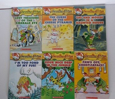 LOT OF FIRST 6 GERONIMO STITON Scholastic Books - Very Good Condition