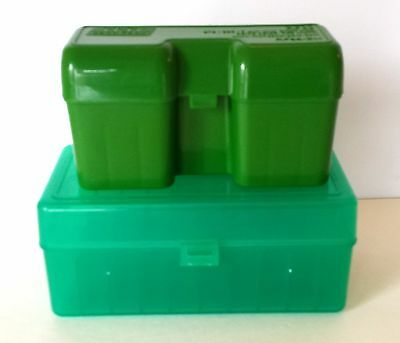 Lot of 2 Plastic AMMO CASES MTM - Case-Gard and Cabella - Hunting