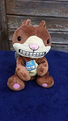 SCAREDY SQUIRREL HAND PUPPET by Melanie Watt Plush Story Teller 11 inches long