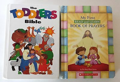 TODDLERS BIBLE AND BOOK OF PRAYERS Christian Childrens Kids Devotions