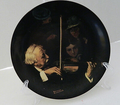 The Master Violinist 20th Plate Norman Rockwell Heritage Collection No COA & Box