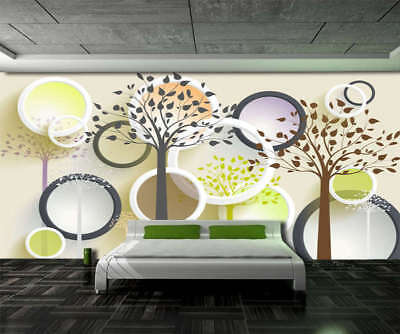 Fancy Circle Branch 3D Full Wall Mural Photo Wallpaper Printing Home Kids Decor