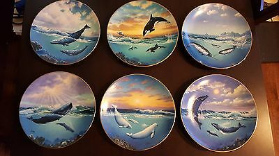 LOT of 6- 1991 Save the Whales Anthony Casay Numbered Collector Plates W. George