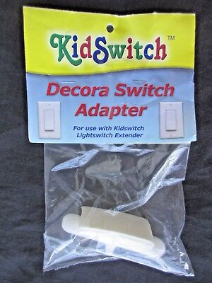 Kidswitch Decora Adaptor White use with Lightswitch Extender