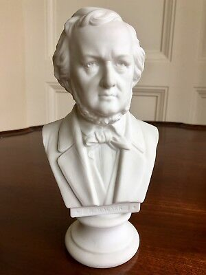A Parian Ware Bust Of Composer Richard Wagner, c.1880. 19.5cm High.