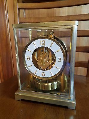 WOW! Jaeger LeCoultre Baby Atmos Clock, 526-5 Needs cleaning & balancing PRETTY!