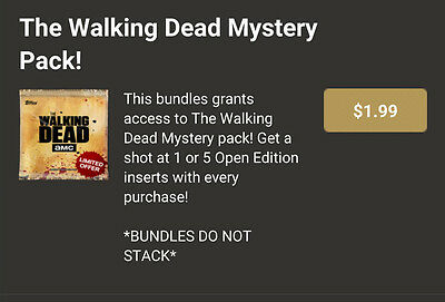 Topps Walking Dead Open Edition 8 Card Mystery Pack (see below) Digital Trader