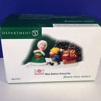 BRAND NEW In Box Dept 56 North Pole Elf Land Wee Deliver Groceries