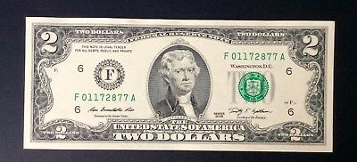 2009 USA $2 Two Dollar Paper Money Bank Note - No Tax
