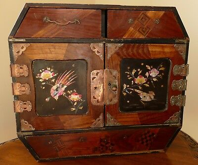Antique Japanese Lacquered Tansu Cabinet