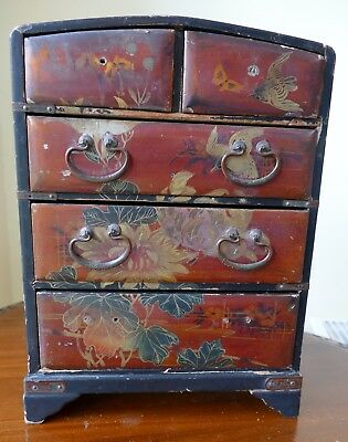 Antique Japanese Lacquered Tansu Chest