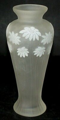 Okra Glass ~ Day's Eye Ivory ~ Large Slender Vase ~ Sarah Cowan ~ RARE
