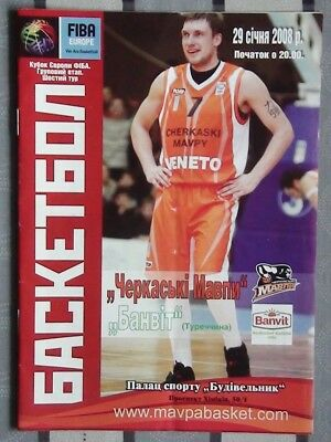 Programs Cherkassy Ukraine - Banvit Turkey 2008