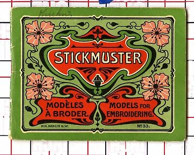 Antique Embroidery Model Book Charts Stickmuster Designs fonts patterns unusual