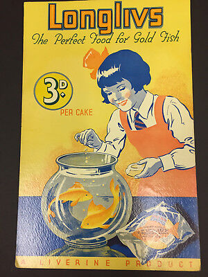 Vintage Fish Bowl Goldfish Advertising Poster
