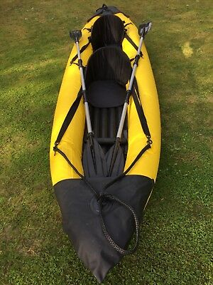 Inflatable Kayak 2 Person in very good condition with paddles & storage bags