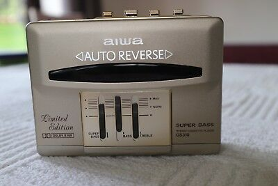ULTRA RARE GOLD AIWA HS-GS310 LIMITED EDITION Personal Cassette Player WALKMAN