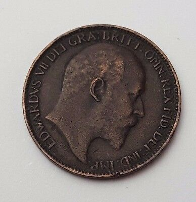 Dated : 1902 - Copper - One Farthing - Coin - King Edward VII - Great Britain