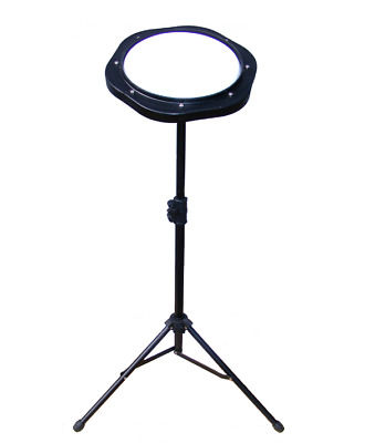 Practice Pad And Metal Stand 8 Inch White