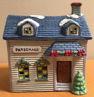 National Decorations Christmas Collectibles 1991 - Parsonage- Church