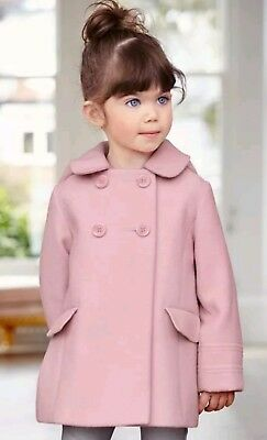 Next baby girls pink warm wool coat jacket 3-6 months RRP £29 NEW with tags BNWT
