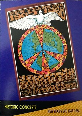 Jefferson Airplane Historic New Years Concert Proset Superstars Musicard 1St Ed.