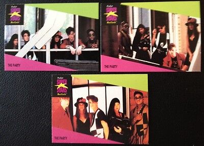 The Party Proset Superstar Musicards 1St Edition All 3 Cards Set Rare Oop