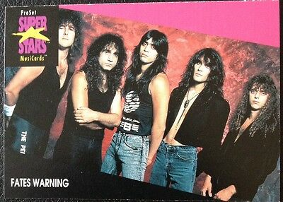 Fates Warning Proset Superstar Musicards 1St Edition Card Rare Oop
