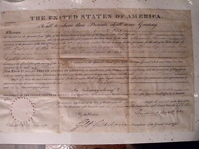 Andrew Jackson Land Grant, Dated AUGUST 6th 1829,Authentic Signed 10x16