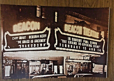 Paul Simon Poster Beacon Theater Ny Grand Re-Opening 2009 Cary Grant Garfunkel
