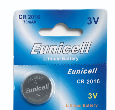 1 X Eunicell Cr2016 R2016 Dl2016 2016 3Lithium Button / Coin Cell Battery