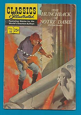 Classics Illustrated Comic Book  1970  The Hunchback of Notre Dame # 18 #823