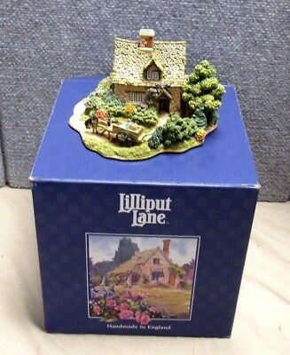 Lilliput Lane Cruck End 1996 Anniversary Cottage With Box