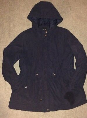 Size 14 New Look Maternity Navy Blue Winter Coat With Hood