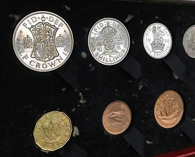 George VI, Proof Nine-Coin Set, 1950. In Original Card And Velvet Box.
