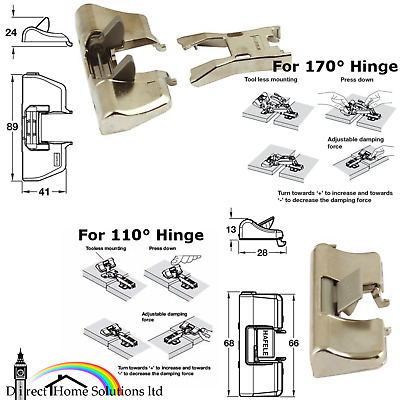 Hafele / Titus Glissando TL Add On Soft Close Adapter 110/170° Click/Slide Hinge
