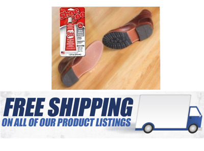 ShoeGOO Adhesive Shoe Repair 1fl.oz Clear For Boots and Rubber Seal Glue Leather