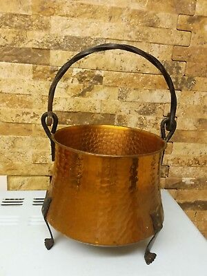 Vintage Beaten Copper Cauldron