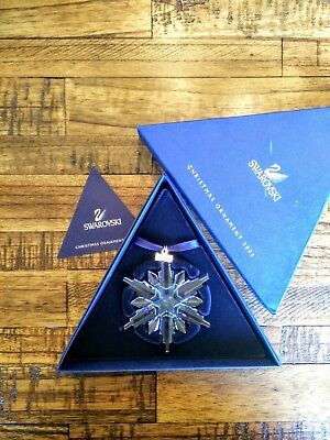 Genuine 2006 Swarovski Large Crystal Snowflake Christmas Ornament In Box Austria