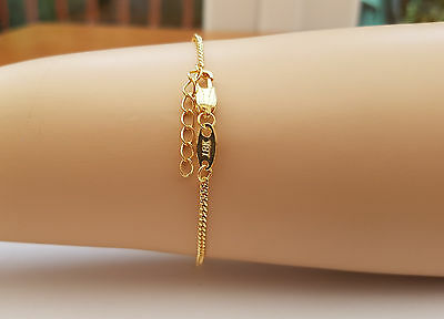 Source 18ct Gold Bracelet with 1 inch extender chain