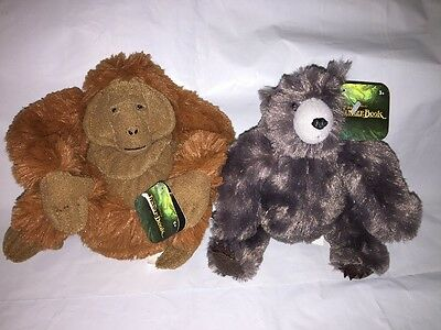 Jungle Book Movie Plush LOT of 2 BALOO Bear & King Louie NEW Free Shipping