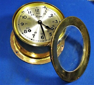 BOSTON(Chelsea?) 4-1/2 Inch Brass Ship's Bell Clock