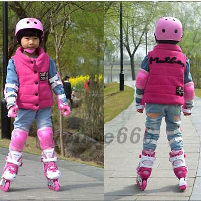 6 Set  Outdoor Kids Skateboard Skating Knee Elbow Wrist Protective Gear Pad Kit