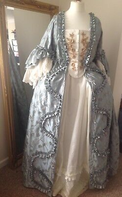 Georgian Robe A La Francaise, Sack Back Ball Gown, Historic Wedding Gown 16/18