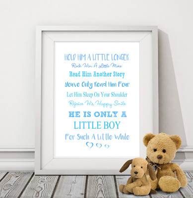 Hold Him a little longer A4 print-nursery print-children's print-quote-baby